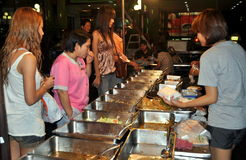 Bangkok, Thailand: People at Outdoor Restaurant Royalty Free Stock Photo