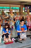 Bangkok, Thailand: People Praying at Shrine Royalty Free Stock Photos