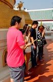 Bangkok, Thailand: People Praying at Temple Stock Image