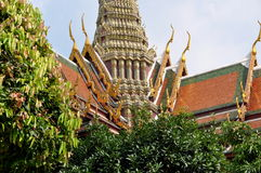 Bangkok, Thailand: Phra Mondop Roof Stock Photography