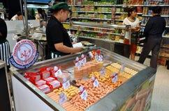 Bangkok, Thailand: Pork Products at Supermarket Royalty Free Stock Images