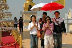Bangkok, Thailand: Prayer Procession at Wat Royalty Free Stock Photo