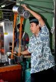 Bangkok, Thailand: Pull-Tea Seller Stock Images