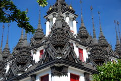 Bangkok, Thailand:  Ratchanadda Temple Lohaprasad Stock Photos