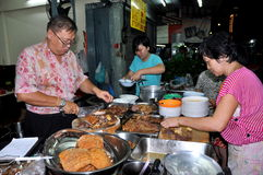 Bangkok, Thailand: Restaurant Workers Royalty Free Stock Images