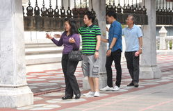 Bangkok, Thailand: Ringing Prayer Bells Stock Image