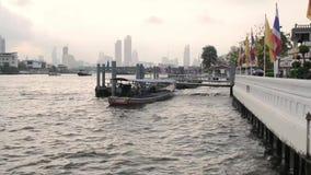 Bangkok, thailand, river, city. Bangkok, thailand, river city asia architecture water stock footage
