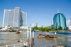 Bangkok Thailand : River and city Royalty Free Stock Images