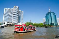Bangkok Thailand : River and city Royalty Free Stock Photo