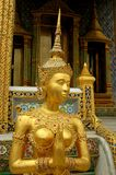 Bangkok, Thailand: Royal Palace Gilded Aponsi Stock Photo