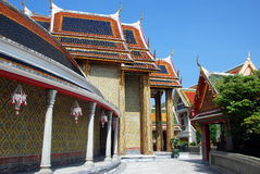 Bangkok, Thailand: Royal Wat Ratchabophit Royalty Free Stock Photos