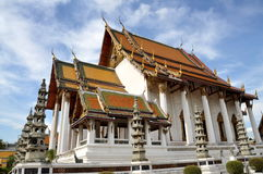Bangkok, Thailand: Sanctuary Hall at Suthat Temple Royalty Free Stock Photo