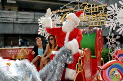 Bangkok, Thailand: Santa Claus Sleigh Royalty Free Stock Photos