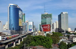 Bangkok, Thailand: Sathorn Road District Royalty Free Stock Image