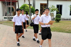 Bangkok, Thailand: School Boys at Museum Stock Image