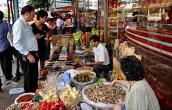Bangkok, Thailand: Selling Foods on Yaowarat Rd Royalty Free Stock Photography
