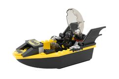 Bangkok,Thailand,20 Sep 2017,illustrative editorial,Lego Batman. In his speed boat on isolated white background with clipping path Royalty Free Stock Photography