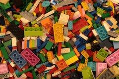 Bangkok Thailand-Sep2018: Lego leksakbakgrund arkivbilder