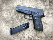 Sig sauer P228 airsoft 6 mm bullet ball pistol gun Royalty Free Stock Photography