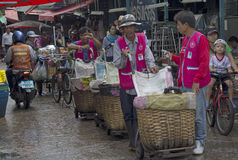 BANGKOK, THAILAND SEP 27TH: Porters waiting for business in Khlo Stock Image