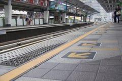 BANGKOK, THAILAND - Sept. 16.: Station Nanas BTS Skytrain an Sept. Lizenzfreie Stockfotos