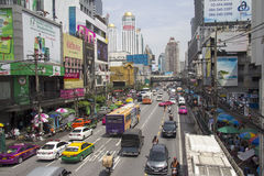 BANGKOK, THAILAND-SEPT 19TH: Petchaburi Road in thr Pratunam Dis Stock Photos