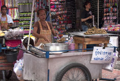 BANGKOK, THAILAND - SEPT 17TH: A street vendor in Chinatown on S Royalty Free Stock Image