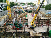 Bangkok, Thailand - September 08,2016 : Construction a building Stock Photography