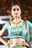 Fashion Show of Jeewan Kaur India Wedding Style. Bangkok, Thailand - September 23, 2017, Fashion Show of Jeewan Kaur India Wedding Style on Stage to present new stock photos