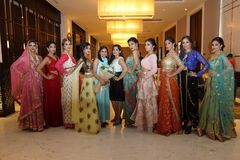 Fashion Show of Jeewan Kaur India Wedding Style. Bangkok, Thailand - September 23, 2017, Fashion Show of Jeewan Kaur India Wedding Style on Stage to present new royalty free stock image