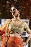 Fashion Show of Jeewan Kaur India Wedding Style. Bangkok, Thailand - September 23, 2017, Fashion Show of Jeewan Kaur India Wedding Style on Stage to present new royalty free stock photo