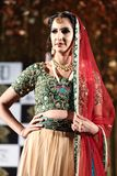 Fashion Show of Jeewan Kaur India Wedding Style. Bangkok, Thailand - September 23, 2017, Fashion Show of Jeewan Kaur India Wedding Style on Stage to present new stock photo
