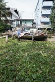 BANGKOK, THAILAND - SEPTEMBER 30: Foto van een krottenwijk in Bangkok Stock Foto