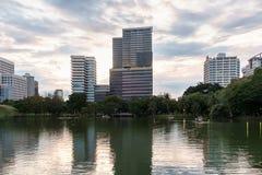 H.M.Queen Sirikit Building in Chulalongkorn hospital and Lumpini. Bangkok, Thailand - September 11, 2015: H.M.Queen Sirikit Building in Chulalongkorn hospital Royalty Free Stock Image