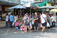 Bangkok,Thailand - September 18, 2016: A lot of people walking in market. For editorial use only royalty free stock photos