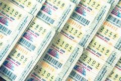 Bangkok, Thailand: 1,2015 september Loterij Verkochte in het algemeen sto Stock Fotografie