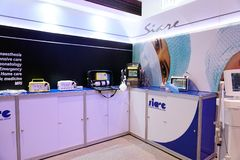 Medical Fair Thailand held at QSNCC exhibitional Hall which pres Royalty Free Stock Image