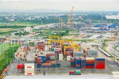 Bangkok, Thailand - 28 September 2015 : Numerous shipping contai Stock Photos