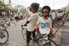 BANGKOK THAILAND SEPTEMBER 15: Oidentifierad peaple i isritt Royaltyfria Foton