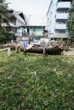 BANGKOK, THAILAND - SEPTEMBER 30: Photo of a slum in Bangkok stock photo