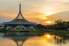 Ratchamangkhala Pavilion at public park name Suan Luang Rama IX on sunset or evening time. Bangkok, Thailand. - September 2, 2017 : Ratchamangkhala Pavilion at stock photos