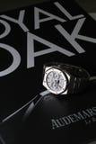 Bangkok, Thailand - September 8, 2014: Royal Oak A. On September 8, 2014 in Bangkok. We shoot the collectible discontinued watch called Moon Phase Royal Oak Royalty Free Stock Photos