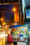 Bangkok, Thailand - SEPTEMBER 25: A view of China Town in Bangkok , Thailand. Street vendors, pedestrians of both locals and touri Royalty Free Stock Photography