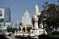 Bangkok, Thailand: Shrines on Ratchadamri Stock Images