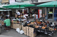Bangkok, Thailand: Sidewalk Vendors Stock Image
