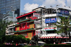Bangkok, Thailand: Silom Road Buildings Stock Photography