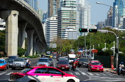 Bangkok, Thailand: Silom Road Traffic Stock Image