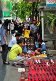 Bangkok, Thailand: Silom Road Vendors Stock Photo