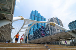 Bangkok Thailand : Sky walk Stock Photo