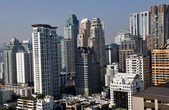 Bangkok, Thailand: Skyine Towers in Center City Royalty Free Stock Photography